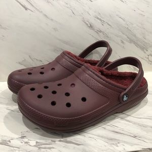 Crocs CLASSIC LINED CLOG Burgundy Clogs Loafers